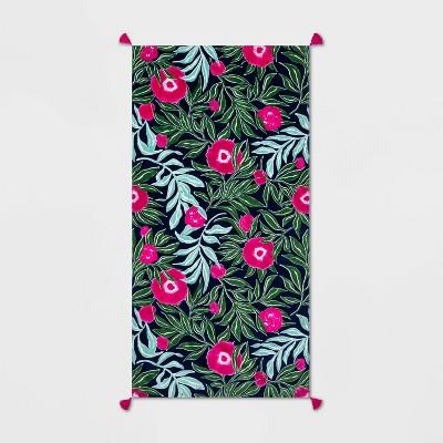 XL Printed Marker Floral Beach Towel - Opalhouse™