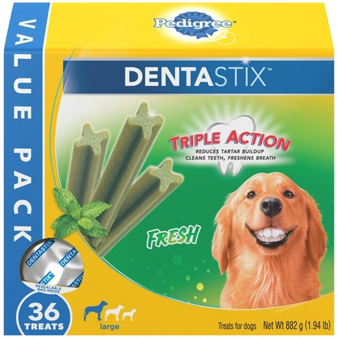 Pedigree Dentastix Fresh Large Dental Chicken Dental Dog Treats - 36ct - image 1 of 4