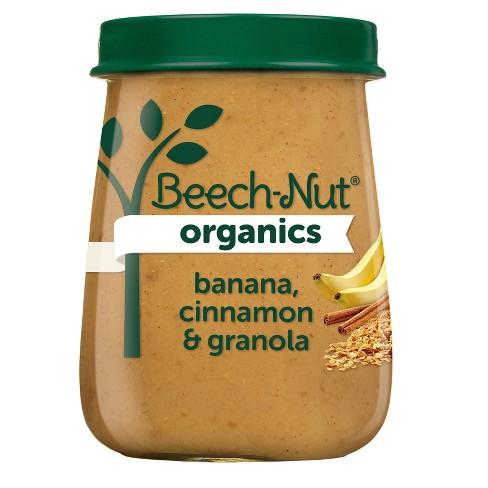 Beech-Nut Organics Banana Cinnamon & Granola Baby Food Jar - 4oz - image 1 of 3