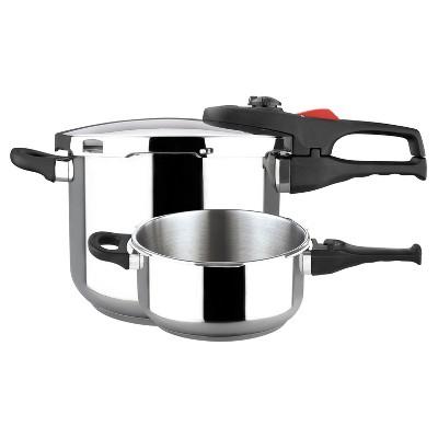 Magefesa Practika Plus Stainless Steel 3pc Pressure Cooker Set