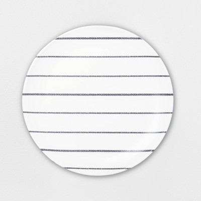 Melamine Gray Stripe Dinner Plate - Hearth & Hand™ with Magnolia