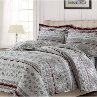 Snowmitten 3pc Oversized Quilt Set - Tribeca Living