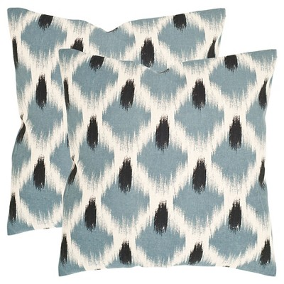 Blue Alex Throw Pillows - 2 Pack - (18 x18 )- Safavieh®