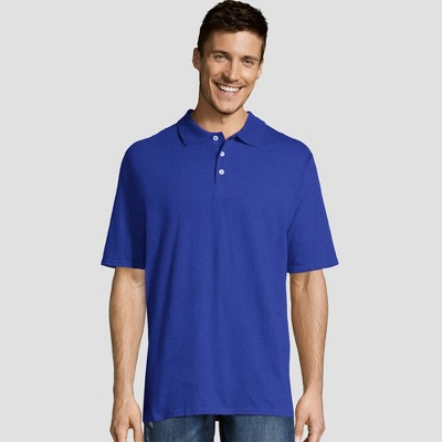 Hanes Men's X-Temp Jersey Polo Short Sleeve Shirt