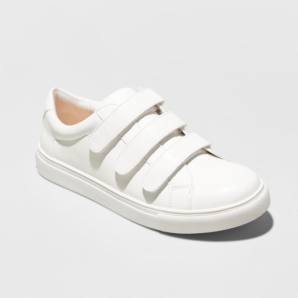 Women's Whitney Wide Width Triple Strap Sneakers - A New Day White 10W, Size: 10 Wide