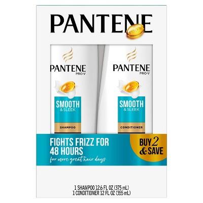 Pantene Pro-V Smooth & Sleek Shampoo and Conditioner Bundle Pack - 24.6 fl oz