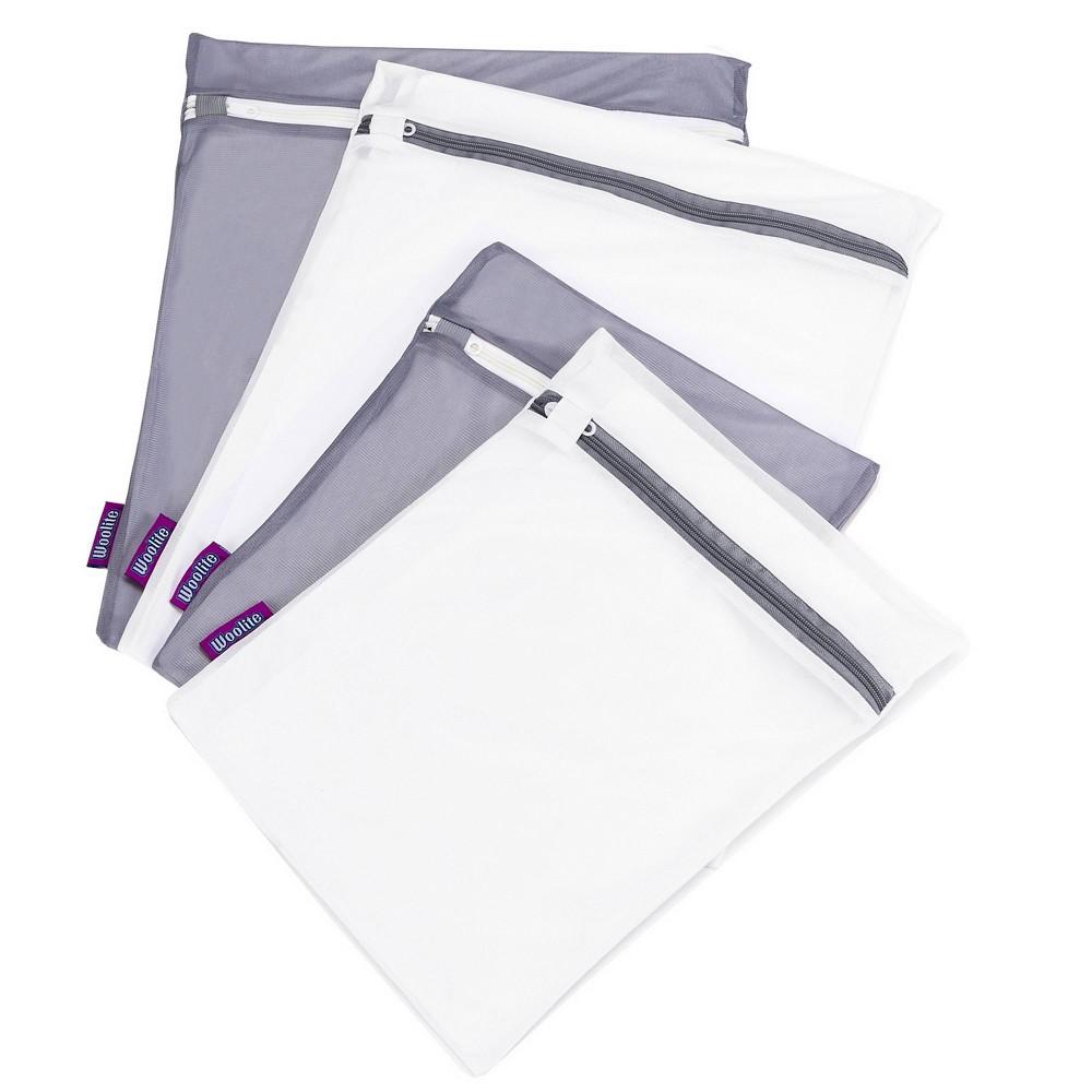 Image of Woolite 4pk Active wear Wash Bag Set White/Gray