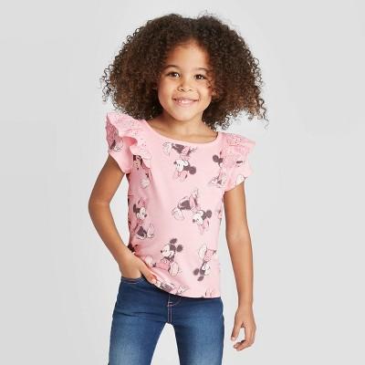 Toddler Girls' Disney Minnie Mouse T-Shirt - Pink Heather 5T