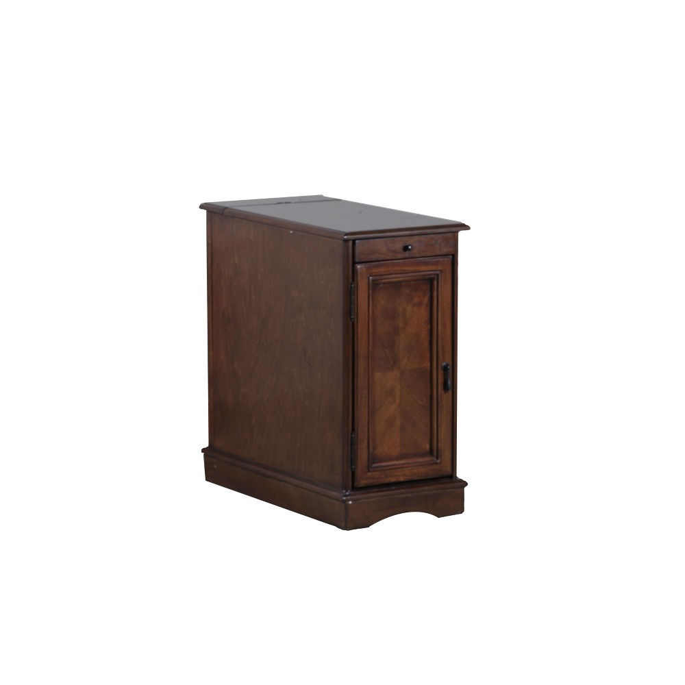 Felix Accent Table with Usb Charging Station Hazelnut - Powell Company