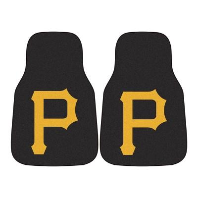 MLB Pittsburgh Pirates Carpet Car Mat Set - 2pc