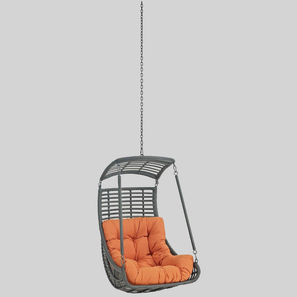 Jungle Outdoor Patio Swing Chair - Orange - Modway