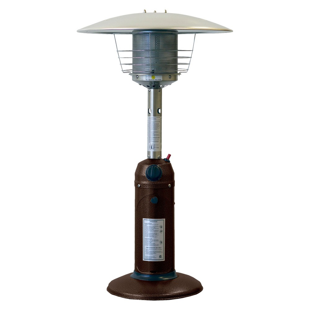 Image of Portable Bronze Gold Hammered Finish Heater