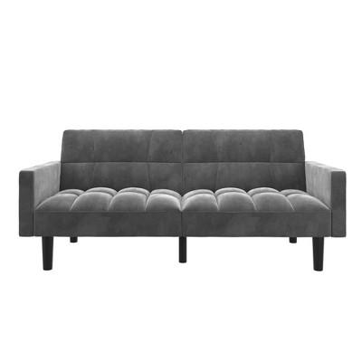Holly Convertible Sofa Sleeper Futon with Arms - Room & Joy