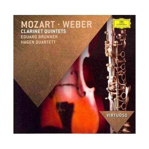 Mozart - Virtuoso: Mozart & Weber Clarinet Quintets (CD) - image 1 of 1