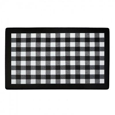 """1'5""""x2'5"""" Rectangle Plaid Floor Mat Multicolored - GoodGram"""