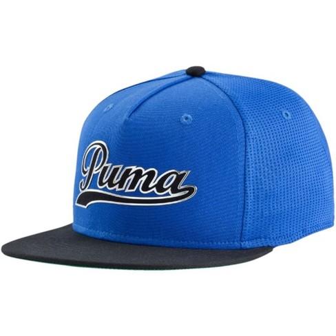 2057b6f455709 Puma Script Snapback Cap Surf Black One Size   Target
