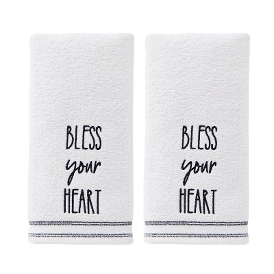 2pc Bless Your Heart Hand Towel Natural - SKL Home