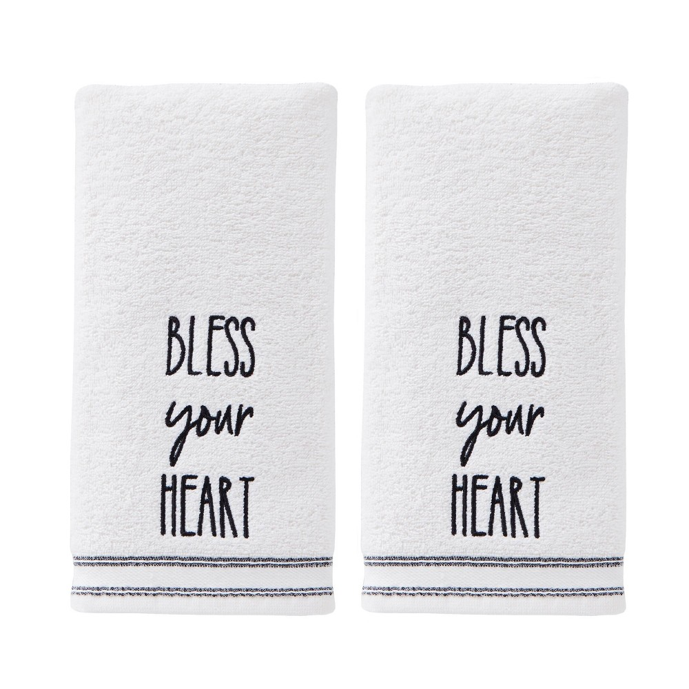 Image of 2pc Bless Your Heart Hand Towel Natural - SKL Home
