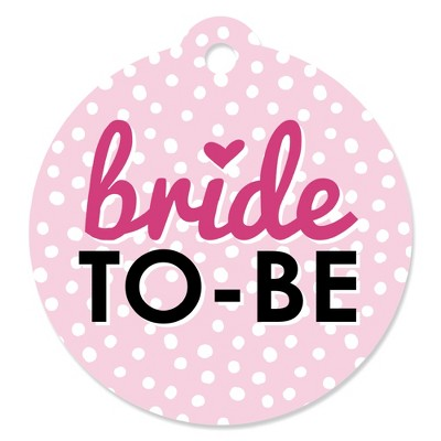 Big Dot of Happiness Bride-To-Be - Bridal Shower & Classy Bachelorette Party Favor Gift Tags (Set of 20)
