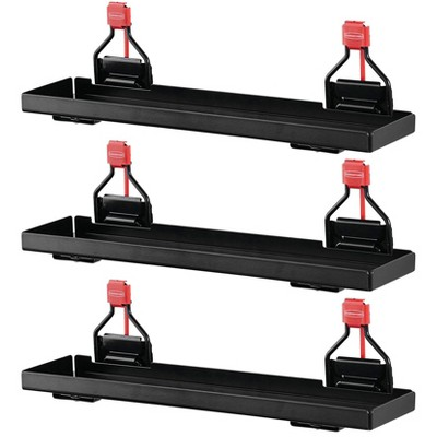 Rubbermaid Heavy Duty Outdoor Metal Backyard Shed Accessories Small Shelf, Holds Up to 20 Pounds and Maximizes Space for Tools (3 Pack)