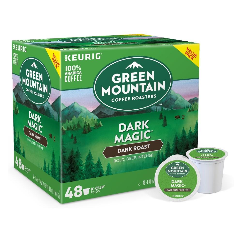 Green Mountain Coffee Dark Magic Keurig Single-Serve K-Cup pods, Dark Roast Coffee, 48ct