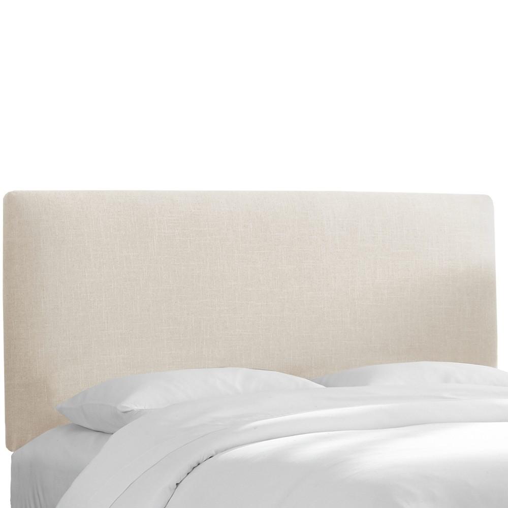 California King Olivia Upholstered Headboard Talc Linen - Cloth & Co.