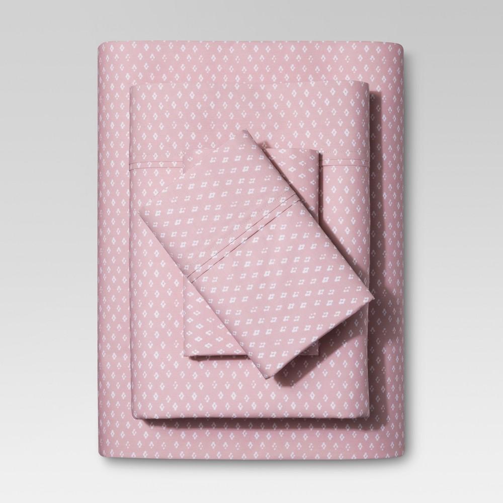 Organic Cotton Sheet Set (Twin) Pink 300 Thread Count - Threshold