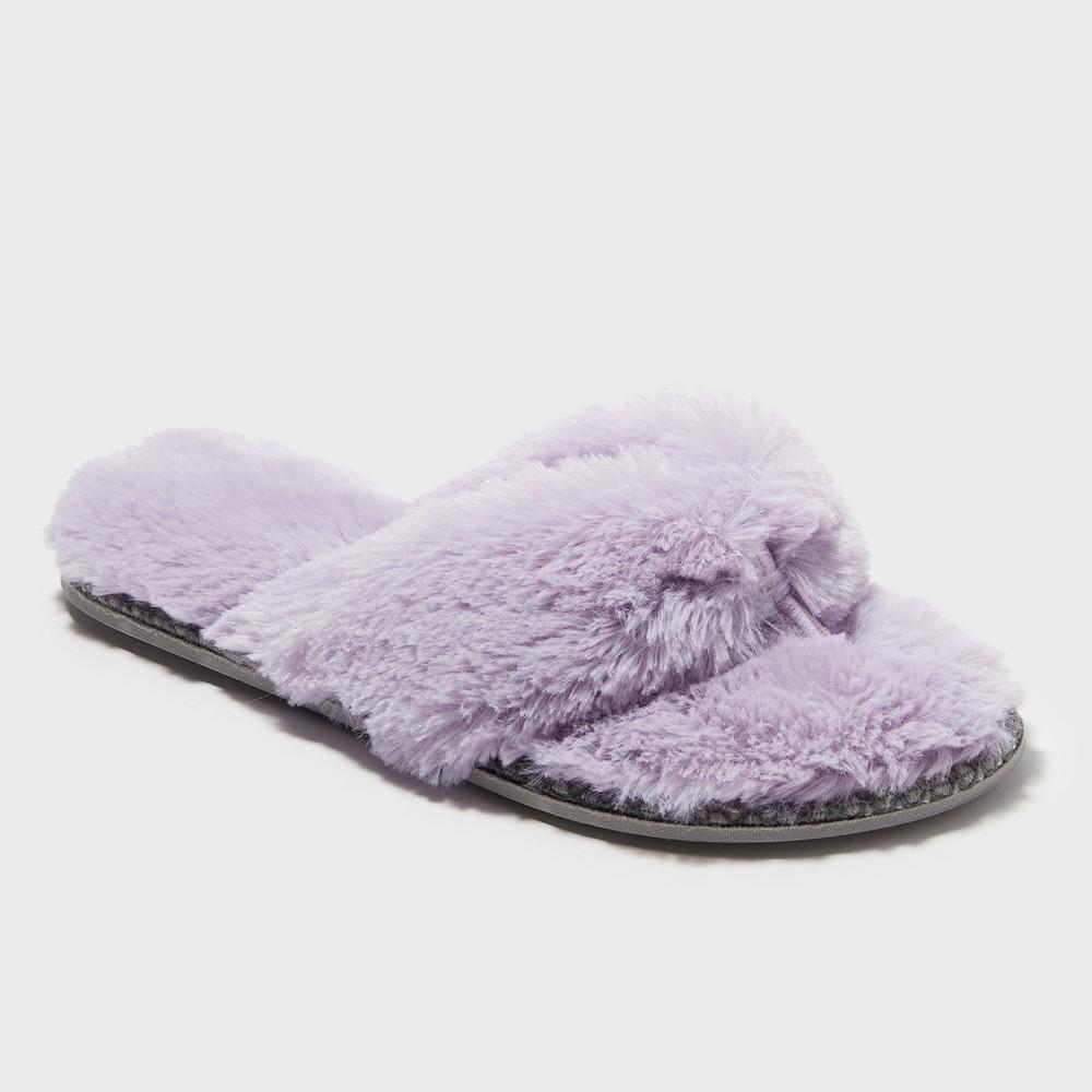 Women's Dearfoams Thong Slippers - Purple XL