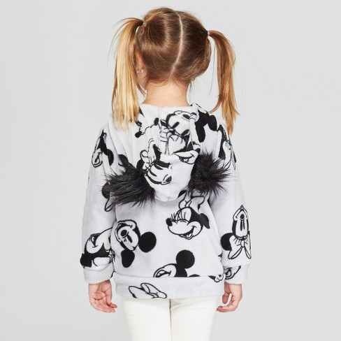 6bd45963e7 Toddler Girls' Disney Mickey Mouse & Friends Minnie Mouse Sweatshirt - Gray