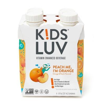 KidsLuv Peach Me I'm Orange Vitamin Enhanced Kids Beverage - 4pk/8 fl oz Box