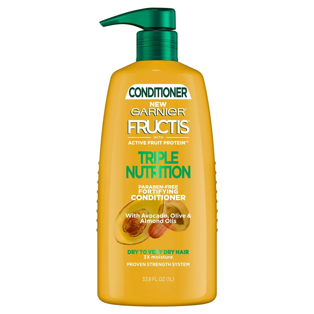 Image of Garnier Fructis Active Fruit Protein Triple Nutrition Fortifying Conditioner - 33.8 fl oz