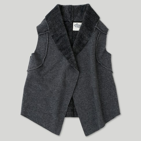 Toddler Girls' Afton Street Fashion Vest - Heather Charcoal - image 1 of 2