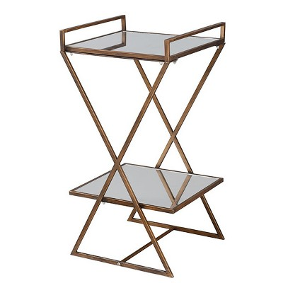 Roxie Rose 2 Tier Pedestal Stand Antique Gold - StyleCraft