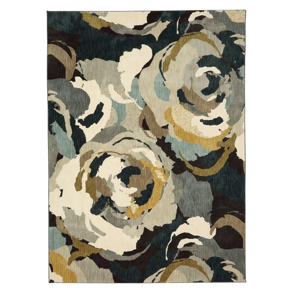 "Image of ""5'3""""x7'10"""" Floral Woven Area Rug - Karastan, Multicolored"""