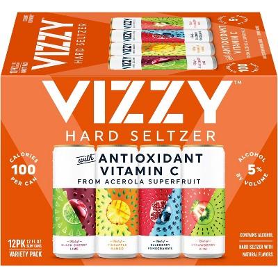 Vizzy Hard Seltzer Variety Pack - 12pk/12 fl oz Slim Cans