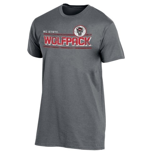 NC State Wolfpack Men's Keep the Lights On Bi-Blend Gray Heathered T-Shirt - image 1 of 2