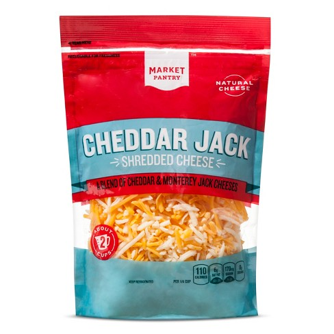 Shredded Cheddar Jack Cheese - 8oz - Market Pantry™ - image 1 of 1
