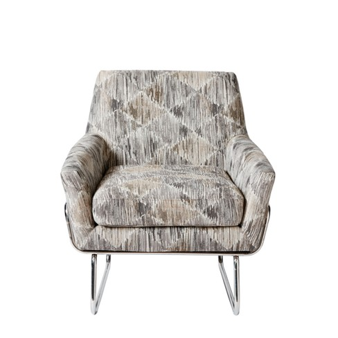 Astonishing Rylee Accent Chair Gray Chrome Cjindustries Chair Design For Home Cjindustriesco