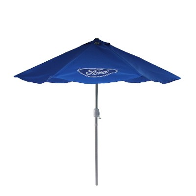 Northlight 9u0027 Ford Officially Licenced Outdoor Patio Umbrella With Hand  Crank And Tilt   Blue