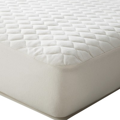TL Care Organic Cotton Waterproof Quilted Portable/Mini Fitted Crib Mattress Cover - Natural