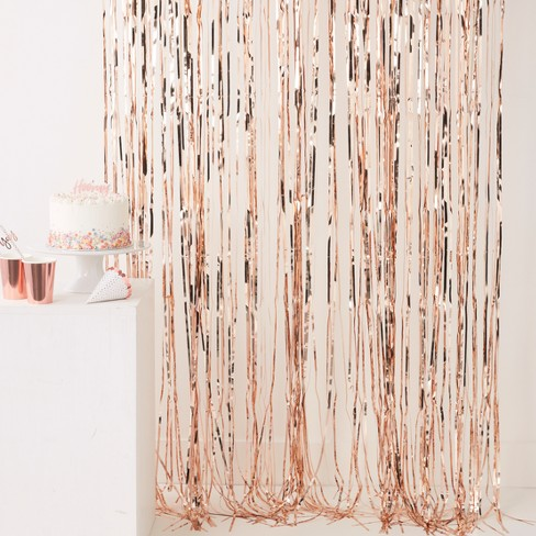 Fringe Curtain Party Decorations Rose Gold