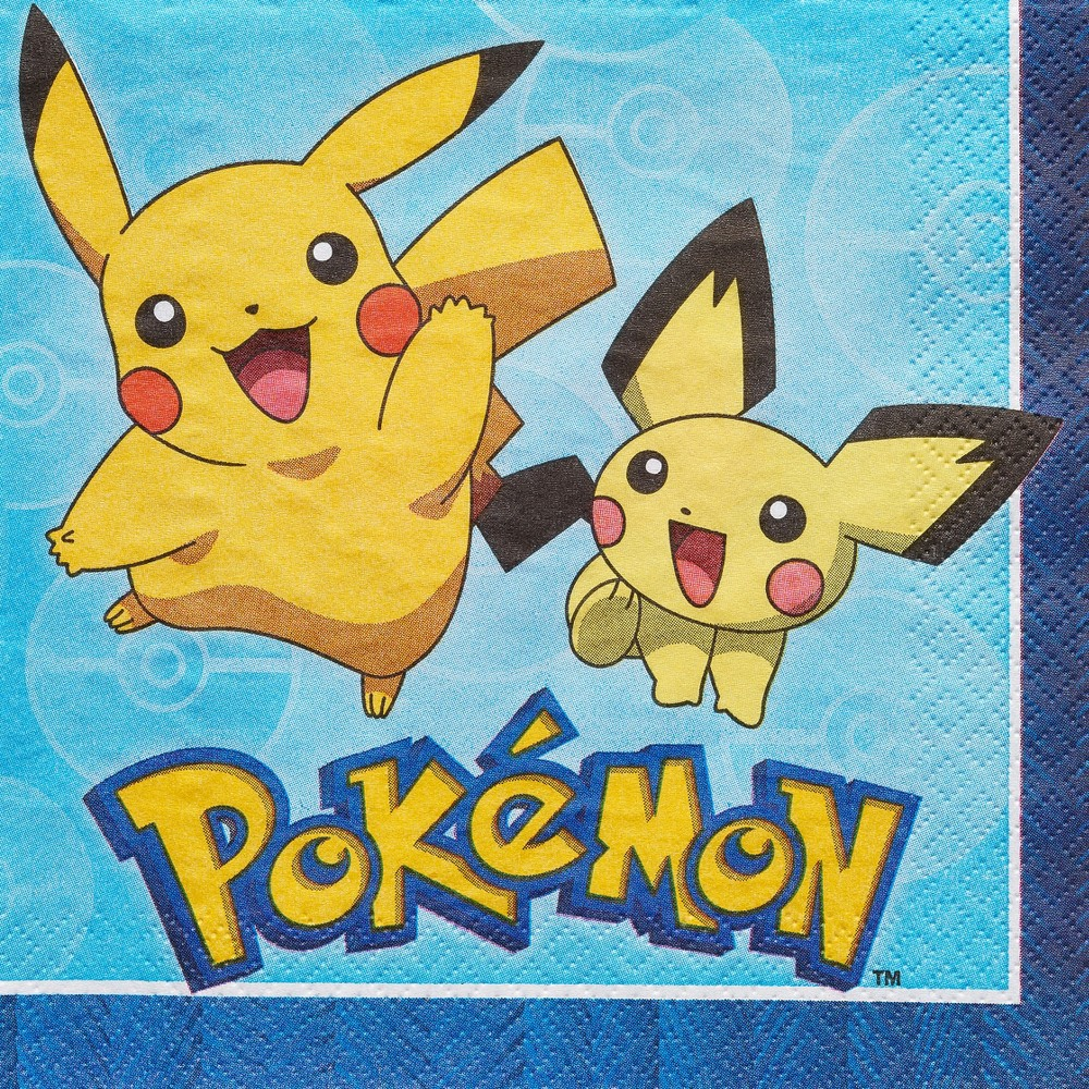 Image of 16ct Pokemon Lunch Napkin