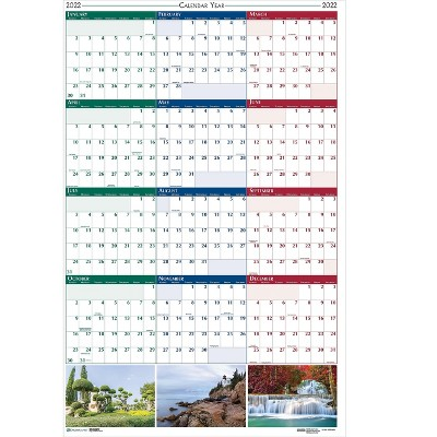 """House of Doolittle 2022 37"""" x 24"""" Wall Calendar Earthscapes Scenic Multicolor 393-22"""