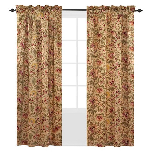 Waverly Imperial Dress Curtain Panel Antique 42 X84
