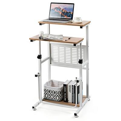 Costway Stand Up Desk Height Adjustable Sit Stand Computer Workstation Standing Desk
