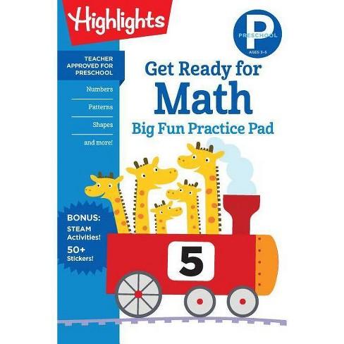 Preschool Get Ready for Math Big Fun Practice Pad - (Highlights(tm) Big Fun Practice Pads) (Paperback) - image 1 of 1