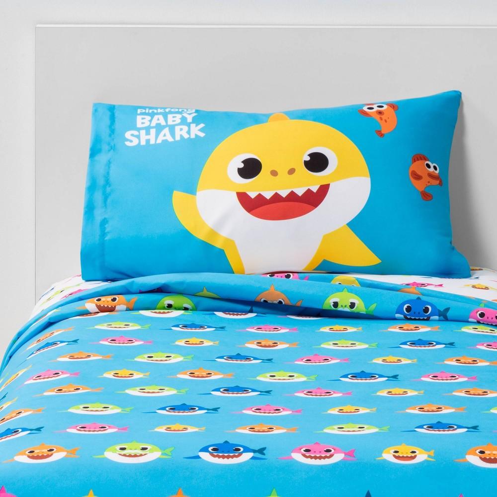 Image of Pinkfong Baby Shark Twin Shark City Sheet Set