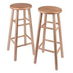 Stupendous Wood 30 Round Top Bar Stool Brown Pemberly Row Target Ibusinesslaw Wood Chair Design Ideas Ibusinesslaworg