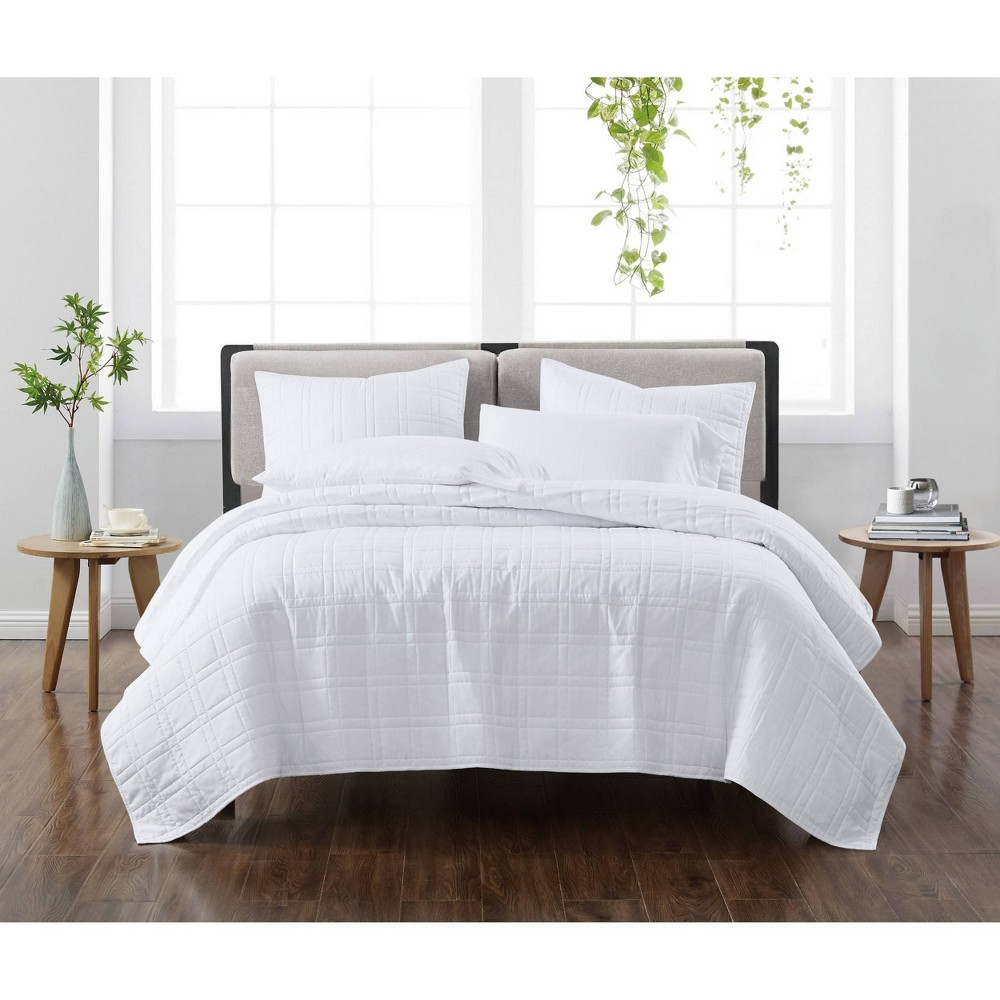 Twin Twin Xl 2pc Solid Quilt Set White Cannon Heritage
