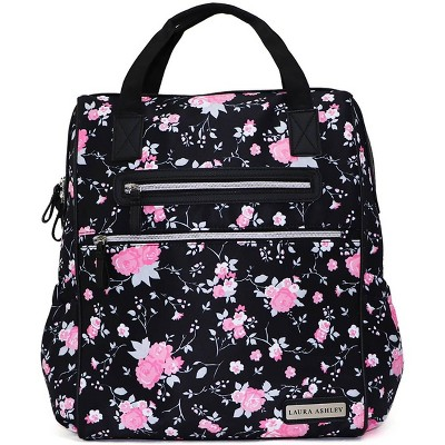 Laura Ashley Floral with Taupe Trim Diaper Bag